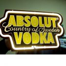 "Brand New Absolut Vodka 3D Beer Bar Yellow Neon Light Sign 10""x7"" Replica [High Quality]"