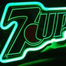 """Brand New 7up Seven Up Soda 3D Beer Bar Neon Light Sign 10"""" x 7"""" [High Quality]"""