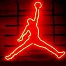 "Brand New NBA Michael Jordan Basketball Air Beer Bar Neon Light Sign 16""x 16"" [High Quality]"