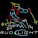 "Brand New Bud Light Mountain Skier Beer Bar Neon Light Sign 16""x14"" [High Quality]"