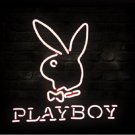 "Brand New PLAYBOY Rabbit Logo Beer Bar Neon Light Sign 17""x 16"" [High Quality]"