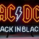 "Brand New ACDC Back In Black Music Classic Band Beer Bar Neon Sign 17""x13"" [High Quality]"