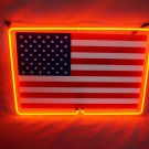 "Brand New USA Flag 3D Real Neon Light Sign 13""x8"""