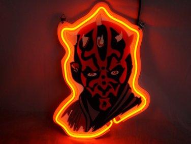 "Brand New Star Wars Darth Maul's 3D Real Neon Light Sign 13""x9"""