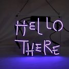 "'Hello There' Beer Bar Pub Decor Art Real Neon Light Sign 12""x10"" [High Quality]"