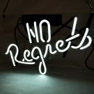 "'No Regrets' Beer Bar Pub Decor Art Real Neon Light Sign 12""x10"" [High Quality]"