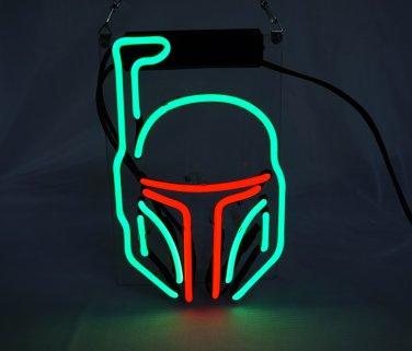 "Brand New Star Wars Mask Art Banner Display Beer Bar Real Neon Light Sign 10""x7"""