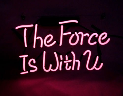 """'The force is with you' Art Banner Displat neon Light bar sign 12""""x8"""" [High Quality]"""