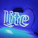 "Handmade 'Lite' Beer Bar Pub Art Light Banner Room Decor Neon Sign 12""x8"""