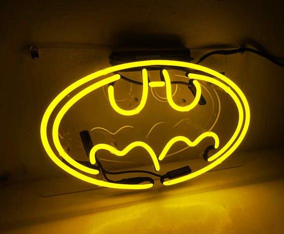 "Handmade 'Batman' Movie Superhero Banner Art Light Neon Sign 13""x8"""