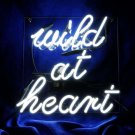 "Handmade 'Wild At Heart' Beautiful Art Sign Banner Neon Sign 10""x10"""