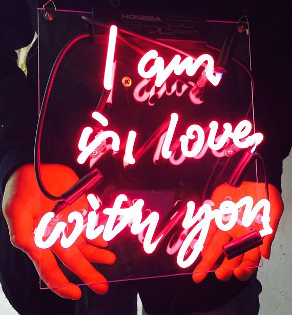 "New 'I'm in love with you' Wedding Love Bar Pub Art Neon Sign 11""x7"""