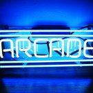 "Handmade 'Arcade' Game Room Banner Art Neon Light Sign 12""x5"""