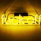 """Handmade 'Fuck Off' Wedding Beautiful Banner Art Light Neon Sign 12""""x8"""""""