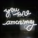 "Handmade 'You are Amazing' Beautiful Art Banner Handmade Neon Sign 11""x8"""