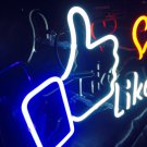 "Handmade 'Like' Fans Heart Sweet Art Sign Handmade Neon Light Sign 12""x10"""