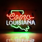 "New Coors Louisiana Handcraft Home Wall Man Cave Lamp Art Sign Neon Sign 11"" by 7"""