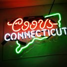 "New Coors Connecticut Handcraft Home Wall Man Cave Lamp Art Sign Neon Sign 11"" by 7"""