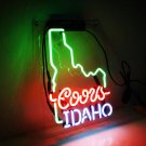 "New Coors Idaho Handcraft Home Wall Man Cave Lamp Art Sign Neon Sign 11"" by 7"""
