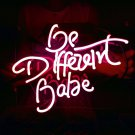 "New 'Be Different Babe' Wedding Sweet Lovely Art Sign Handmade Neon Sign 11""x7"""