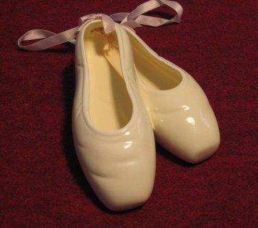 Yellow Ceramic Ballet Slippers Wall Decor Girl Bedroom