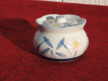 Ben Rickert Porcelain Pomander Japan Texture Flowers Collectible