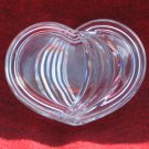 Clear Glass Heart Trinket Jewelry Box 4 Inch Pattern