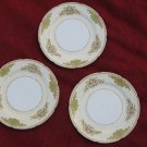 3 Rembrandt Luncheon Plates China Floral Japan Floral Scrolls
