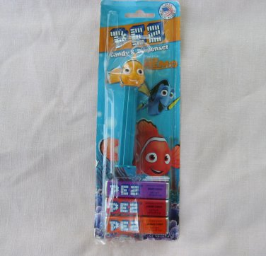 PEZ Candy Dispenser Finding Nemo Fish Blue Footed Package