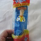 PEZ Candy Dispenser Woody Toy Story Cowboy Blue Footed China Package