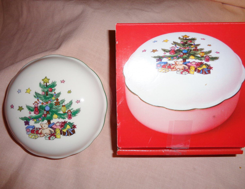 Nikko Christmastime Covered BonBon Dish Candy Dish 5 Inch Tree ...