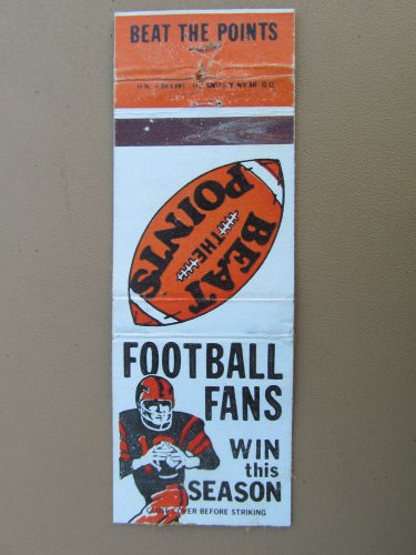 Beat the Points Football Fans Win the Season 20 Strike Vintage Matchbook Cover