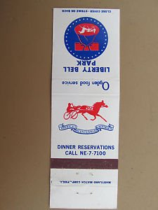 Liberty Bell Park Racetrack 20 Strike Vintage Horse Race Matchbook Match Cover
