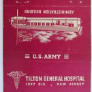 Fort Dix New Jersey US Army Tilton Gen. Hospital 40FS Military Matchbook Cover