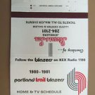 Portland Trail Blazers Basketball 1980-81 Sched Vntage 40 Strike Matchbook Cover