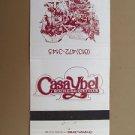Casa Ybel Beach Racquet Club (Sanibel Florida) 30 Strike Vintage Matchbook Cover