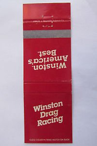 Winston Drag Racing Car Racing Sports 20 Strike Matchbook Cover Motor Sports