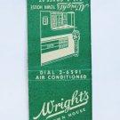 Wright's Town House Richmond, Virginia VA Restaurant 20 Strike Matchbook Cover