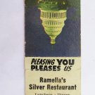 Ramella's Silver Restaurant Silver Spring, Maryland MD 20 Strike Matchbook Cover