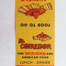 El Comedor Mexican Restaurant Long Beach, California 20 Strike Matchbook Cover