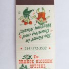 Orange Blossom Special Mt. Pleasant, Texas Restaurant 20 Strike Matchbook Cover