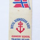Gunnery School Travers Island New York Vntage Military 20 Strike Matchbook Cover
