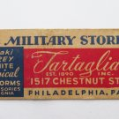 Tartaglia Inc. Military Store Philadelphia Pennsylvania Military Matchbook Cover