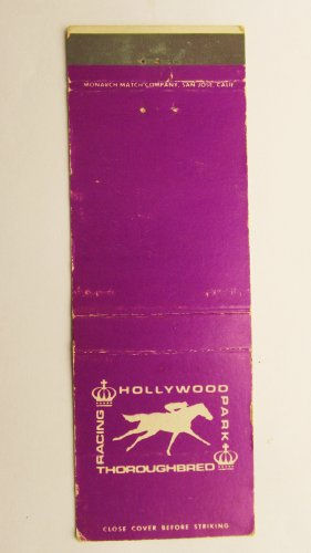 Hollywood Park Thoroughbred Horse Racing Sports 20 Strike Matchbook Cover