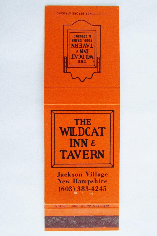 Wildcat Inn Tavern Restaurant Jackson Village New Hampshire 20FS Matchbook Cover