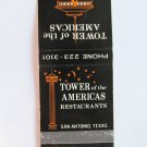 Tower of the Americas Restaurant San Antonio, Texas TX 20 Strike Matchbook Cover