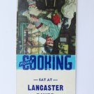 Lancaster Diner New Hampshire NH Restaurant 20 Strike Matchbook Cover  JF Kernan