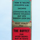 The Buffet - Raton, New Mexico 20 Front Strike Restaurant Matchbook Match Cover