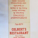 Colbert's Restaurant - North Hollywood, California 20 Strike Matchbook Match Cover