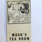Mack's Tea Room - Raleigh, North Carolina Restaurant 20 Strike Matchbook Cover